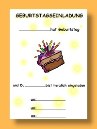 Geburtstagseinladungen vorlagen gratis ausdrucken