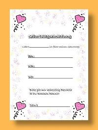 Einladungskarten für den Kindergeburtstag, Vorlagen kostenlos zum Download