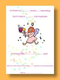 einladungskarten für den kindergeburtstag, vorlagen kostenlos zum, Einladung